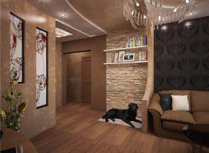объединение коридора и комнаты
